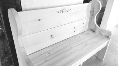 Pew Bench with Decal Detail