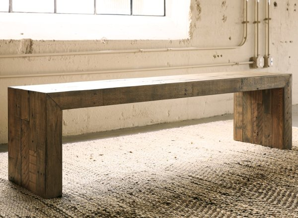 Walnut Stained Bench Style 2