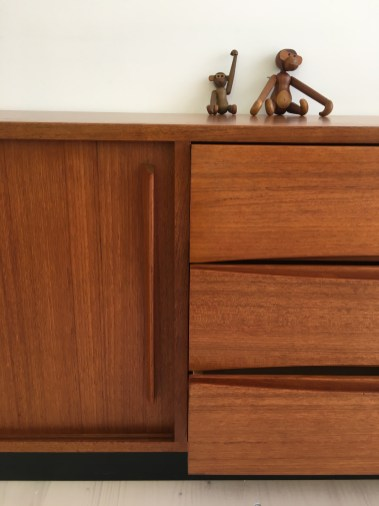 Teak Sideboard with Sliding Doors 1960s