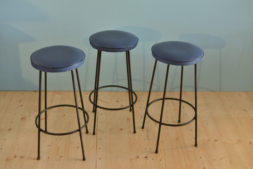 Three Retro Barstools