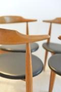 Set of 4 Hans J. Wegner Heart Chairs in Oak No.4104