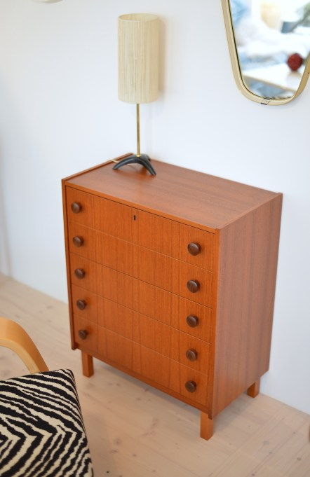 Little Teak 5 Drawer Dresser
