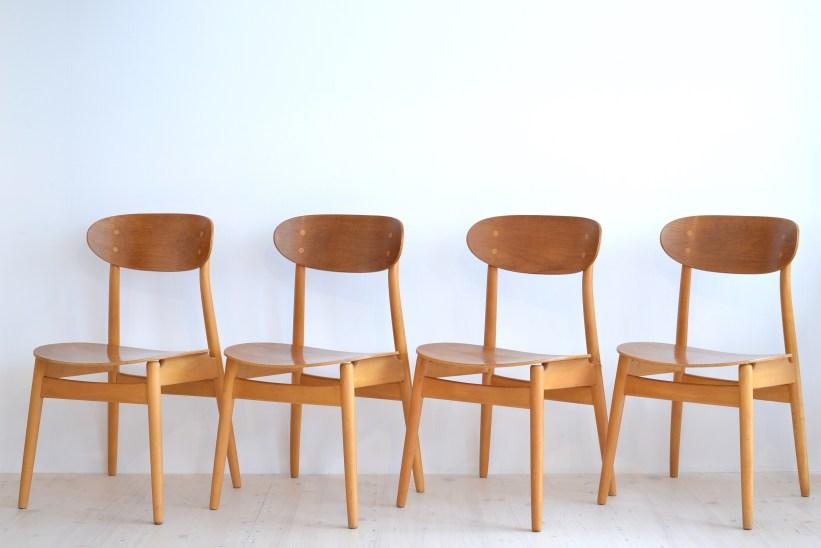 Haga Fors Dining Chair Set Eva Esszimmerstühle Sven Erik Frylund Hogafors