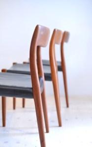 Niels Otto Möller Teak Dining Chair Set No.77 J.L. Moller