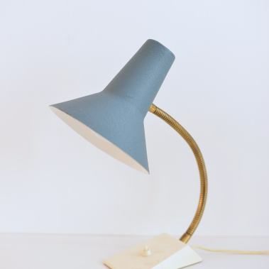 Desk Lamp 'Blue and Messing'