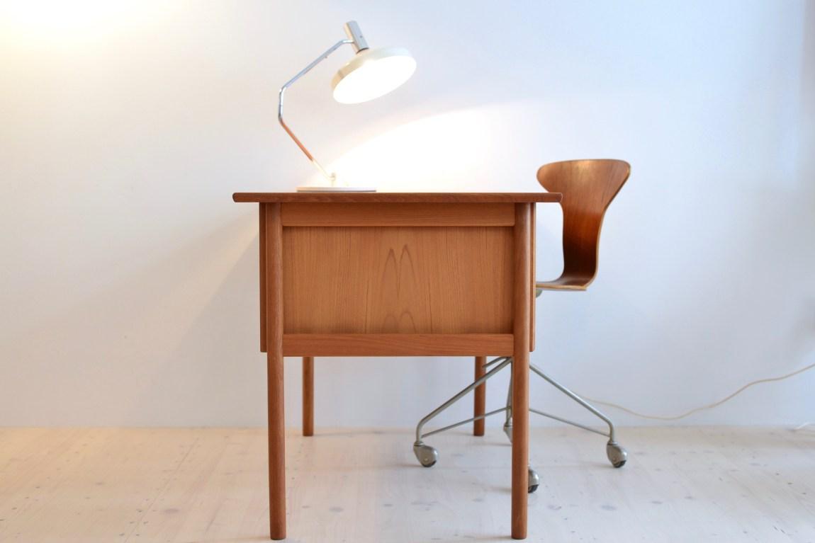 Mid-Century Teak Tibergaard Desk Gunnar Nielsen 1960s Denmark
