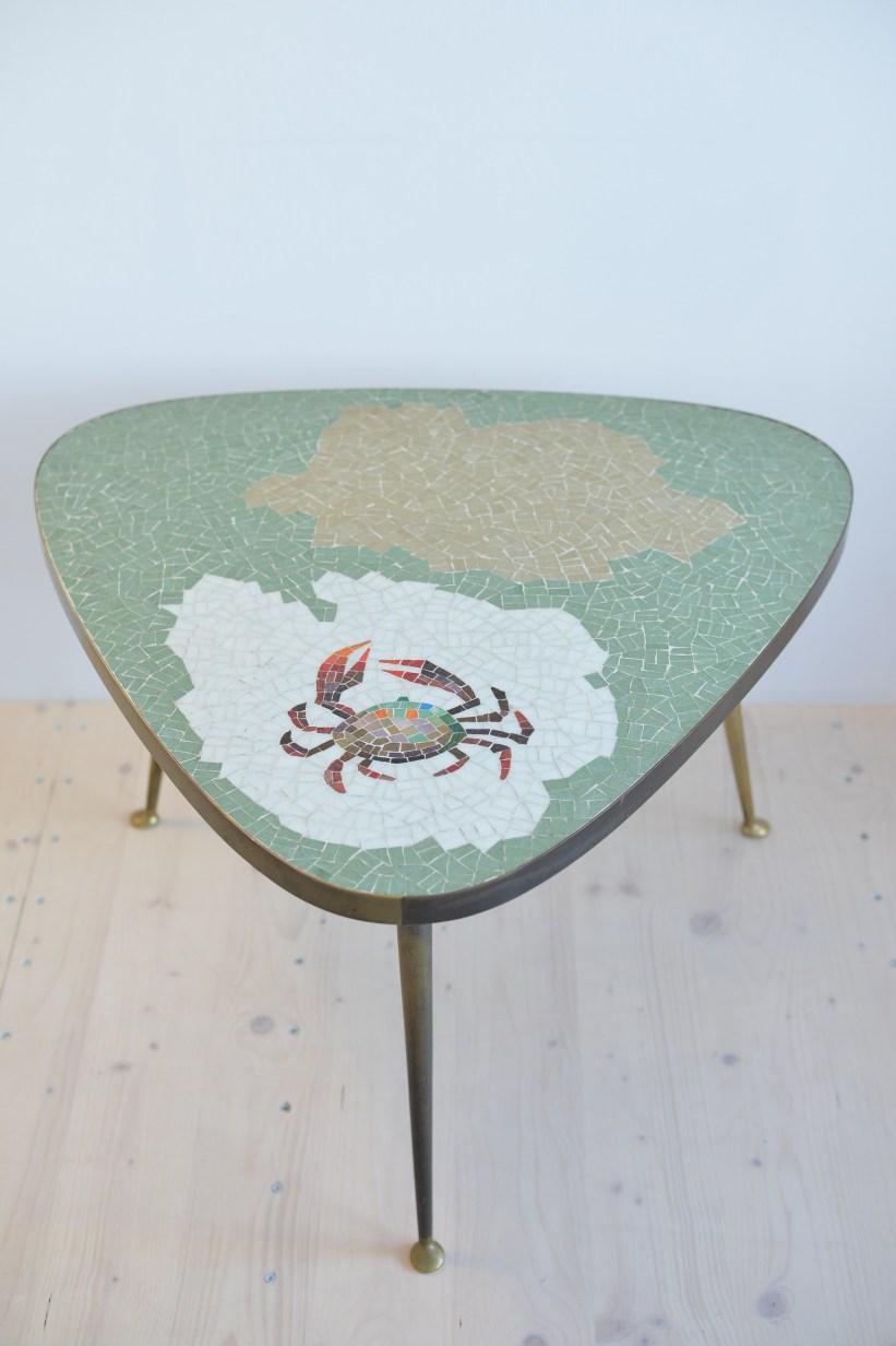 Crab Mosaic Cocktail Table heyday möbel moebel Zürich Zurich Binz Vintage