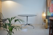 Eames Segmented Contract Table Marble Granite Chrome Base