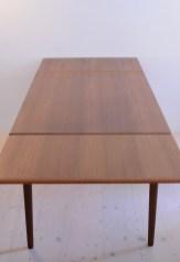 Teak Dining Table Extendable Made In Denmark 1960s heyday möbel moebel Zürich Zurich Binz