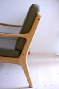 Ole Wanscher Senator Sofa Two Seater Loveseat Olive Leather France And Son Denmark 1960s heyday möbel moebel Zurich Zürich Binz