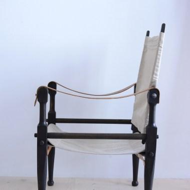 Kienzle Safari Chair Set with Canvas Switzerland 1930s heyday möbel moebel Zürich Zurich Werkhof Binz