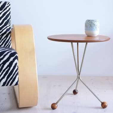 Teak Tripod Coffee Table by Albert Larson for Tibro heyday möbel moebel Zürich Zurich