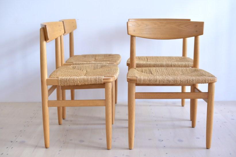 Borge Mogensen Oresund Oak Dining Chairs by Karl Andersson and Söner Denmark 1960s heyday möbel moebel Zurich Zürich Binz and Altstetten