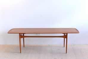 Tove and Edvard Kindt-Larsen Teak Coffee Table for France and Son