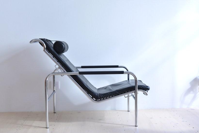 Zanotta Genni Sessel Chrome Black Tubular Steel Italy heyday möbel Zürich Binz Altstetten