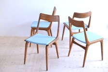 Erik Christensen Boomerang Dining Chair Set Girsberger Switzerland heyday möbel moebel Zurich Zürich Binz Werkhof Binz
