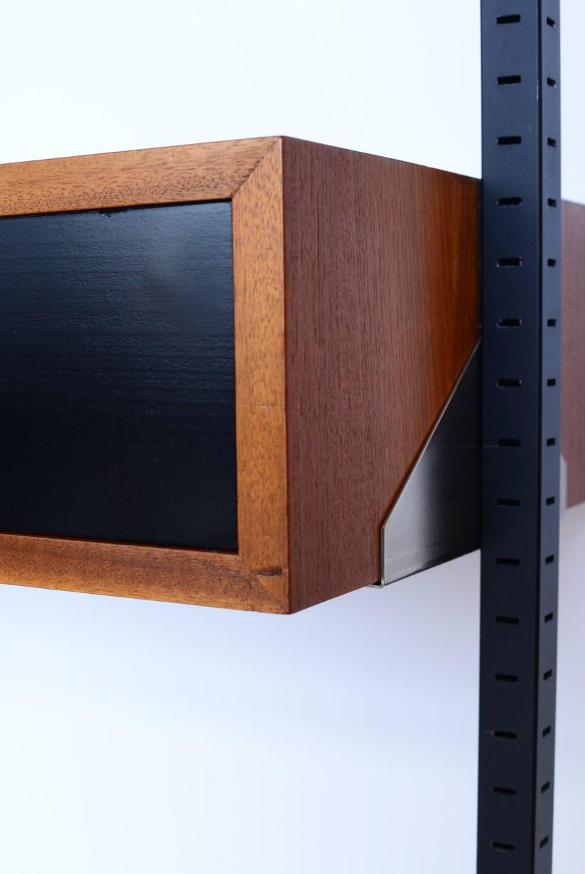 Frank Bolliger Telescopic Shelving Unit with Desk heyday möbel Wiedikon