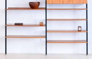 Frank Bolliger Teleskopregal Telescopic Shelving Unit Switzerland 1960s heyday möbel Zürich