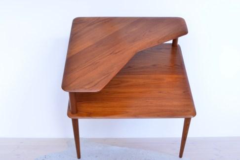 Peter Hvidt Corner End Table Minerva Denmark 1960s heyday möbel Zürich Vintage
