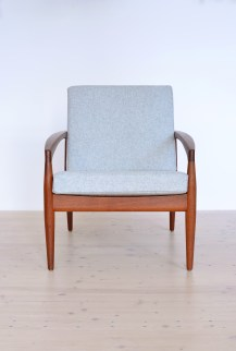 Kai Kristiansen Paper Knife Chair with Light Grey Kvadrat heyday möbel heydaymoebel