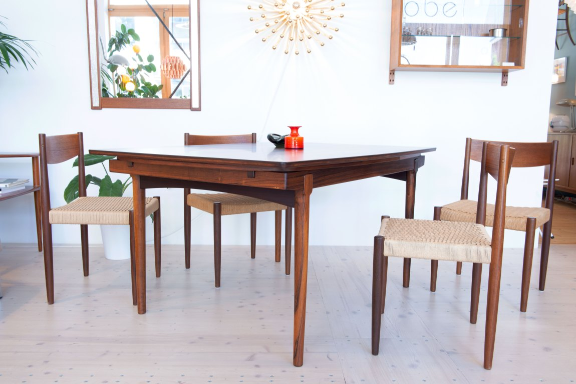 Rosewood Table Vamo Sonderborg - Denmark, 1960s. Available at heyday möbel Zurich Switzerland