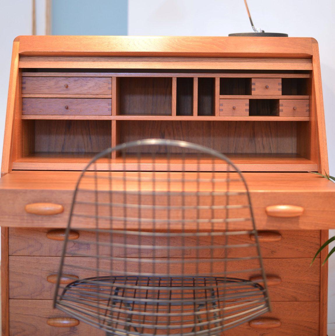 Teak Secretary Sekretär by Dyrlund, 1970s