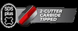 Diablo SDS-Plus 2 Cutter Carbide Tipped Bits