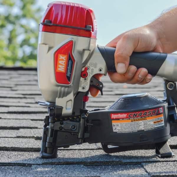 MAX CN445R3 SuperRoofer roofing nailer nailing shingles