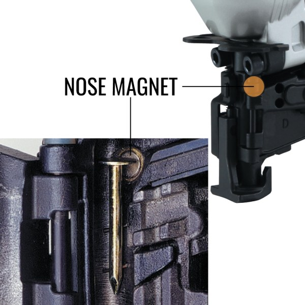 MAX CN445R3 roofing nailer with magnetic nose
