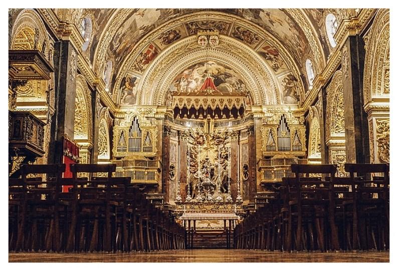 Main area of St. John's Cathedral, Valleta, Malta