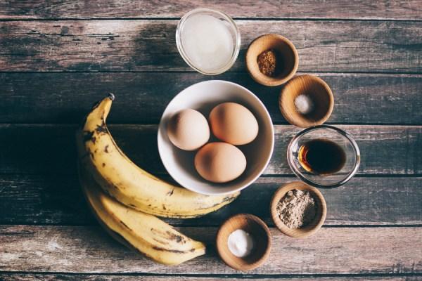 Plantain pancakes ingredients