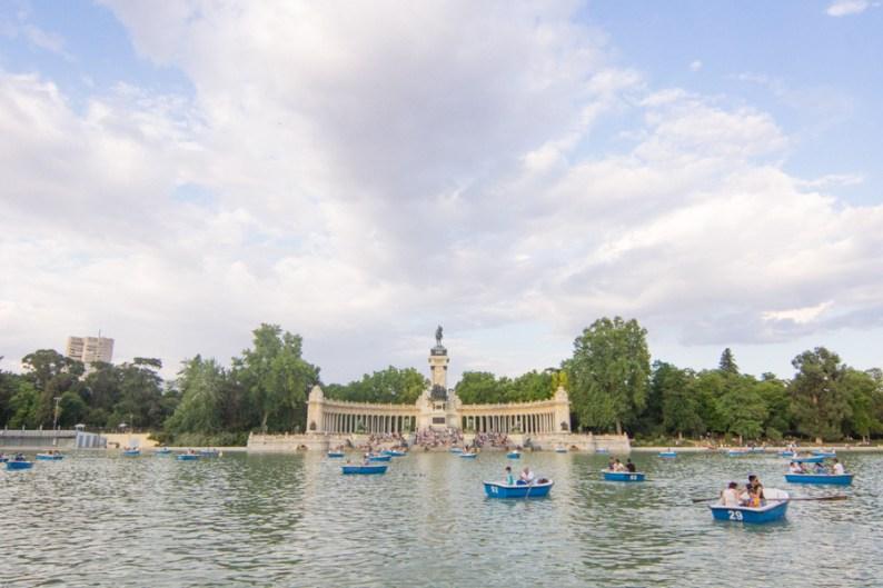 King Alfonso XII Monument Buen Retiro Park Madrid