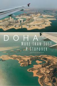 Doha skyline, flying over Qatar | @dipyourtoesin