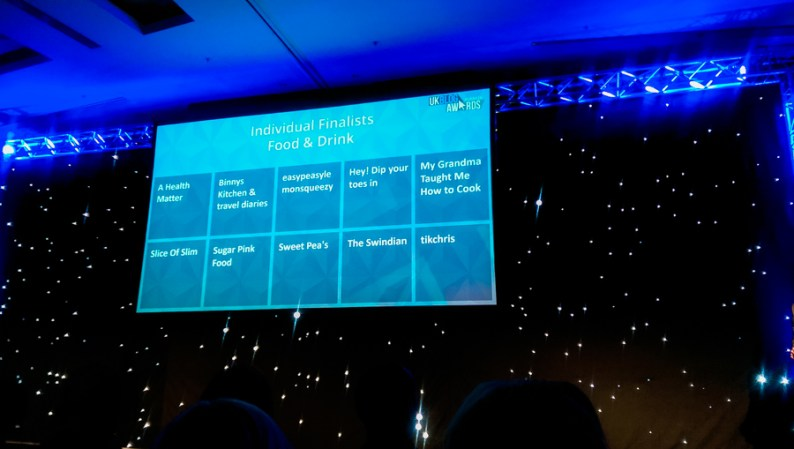 UKBA16 Award Ceremony Food and Drink Finalists