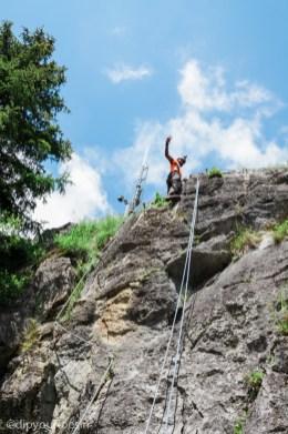 Rock climbing, Lech, Arlberg, Austria Alps