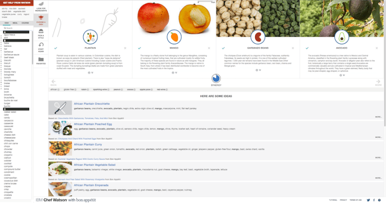 Chef Watson user interface | via @dipyourtoesin