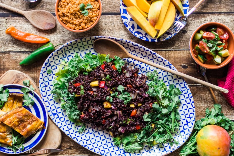 Zanzibar feast | Mango-Curried Black Rice | HDYTI