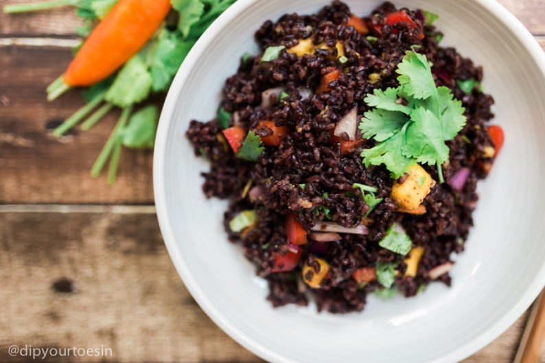 Closeup | Mango-Curried Black Rice | HDYTI