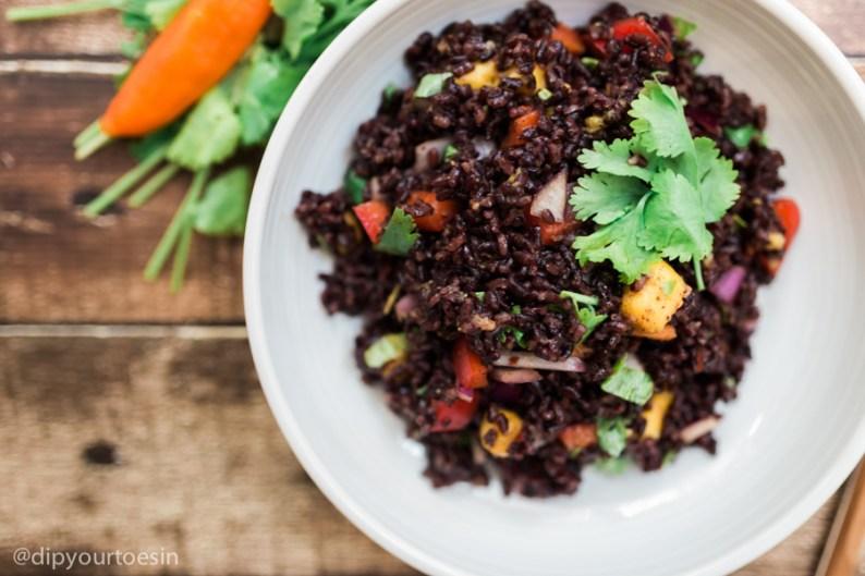Closeup | Mango-Curried Black Rice | HDYTI