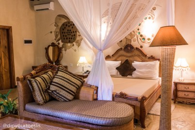 Eco lodge interior at Zanzi Resort Zanzibar