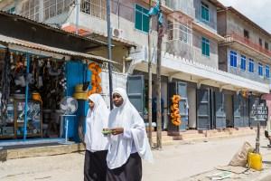 Girls in Zanzibar City, Zanzibar