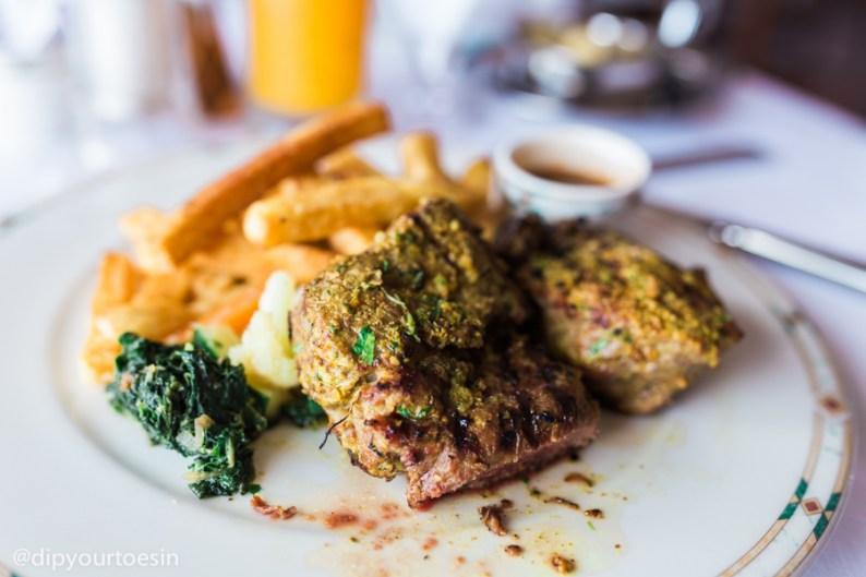 Beef at the Baharia Restaurant, Zanzibar Serena Hotel