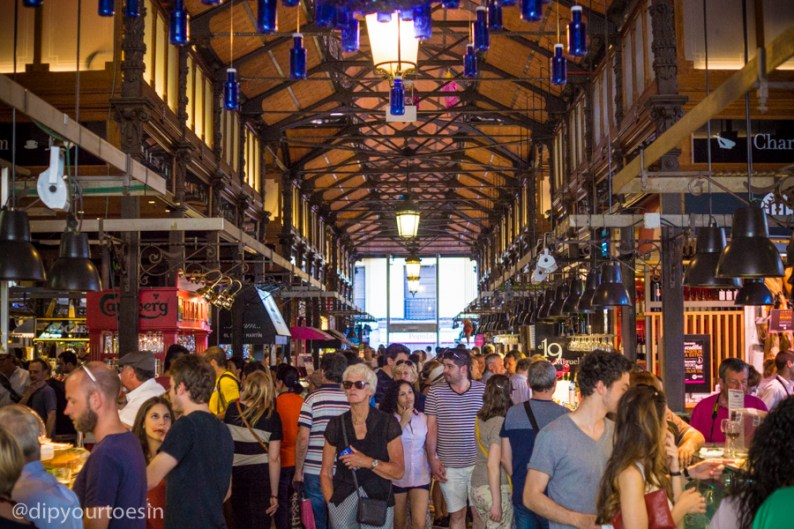 Mercado de San Miguel in Madrid, Share a Journey and Not Just Moments with Esplorio | via @dipyourtoesin
