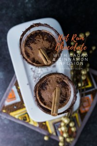 Hot Rum Chocolate with Cacao & Cinnamon | via @dipyourtoesin