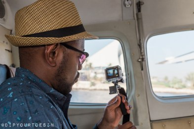 Looking out from Seawings Seaplane in Dubai | @dipyourtoesin