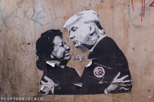 Rita Barberá | Donald Trump | Street Art | Valencia, Spain
