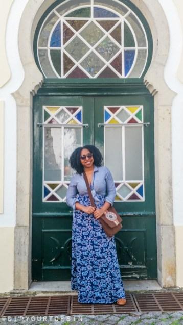Portuguese door, Monchique, Algarve, Portugal