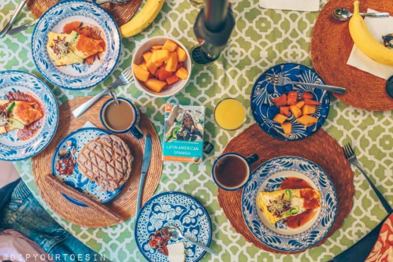 Breakfast at Red Tree House   La Condesa   Mexico City