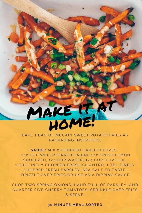 McCain Sweet Potato Fries HDYTI recipe