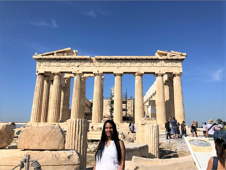 Woni Spotts Greece | First Black Woman to Travel To Every Country in the World